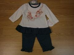 girls 2pc legging & peplum style top set 15511