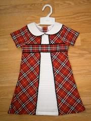 Girls check dress mb 1001