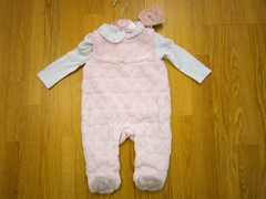 pink velour 2pc sleepsuit set