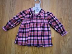 Tartan Baby Smock Dress  with long sleeves 1803