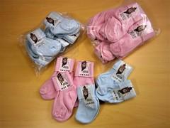 Socks - pink & blue