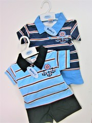 "Polo shirt and shorts set ""Anchor"" 7381"