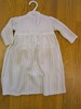 Knitted long dress with nappy cover and bonnet 120