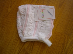 Knitted Hats/Bonnets style number c pink