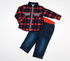 Jeans and Flanellete Shirt Set - Toddler Y3781