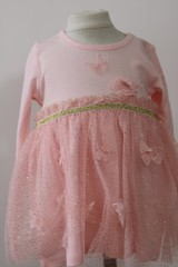 Pink Dress with glitter & butterflies N15764