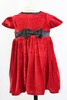 Red Velvet Dress with Bow  15823