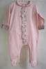 Pink Cotton Babygrow with tartan trim 15466