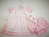 Dress with detachable apron front P16658