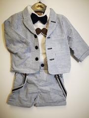 Striped 4pc Boys Jacket & Shorts Set P16118