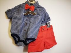 Bow tie, Bodyvest & Shorts Set P16346
