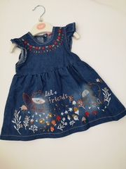 """Denim Dress """"Little Friends"""" 1022"""