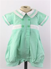 Mint Romper with smock detail 2004