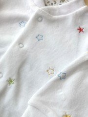 Velour Sleepsuit 1038 Stars 