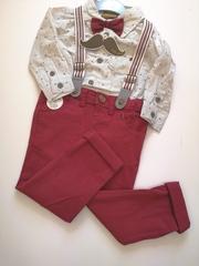 4pc Trouser/ Braces /Shirt & Bow tie Set Q17629