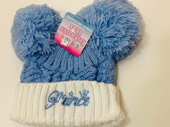 Double Pom Pom Knitted Hat -Prince