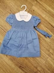 Sky Blue Smock Dress 3205