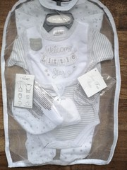"7pc Mesh Hanging Gift set "" Welcome Little Star"" 8512"