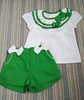 Green Shorts Set with Ribbons PS02