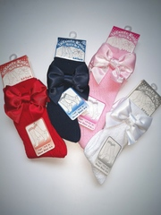 Pellerine knee high socks with a Heart Design & Satin Bow