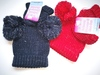 Double Pom Pom hats and Mittens H492