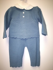 Cerulean Blue Knitted Pram Suit 1345