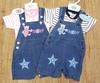 """Denim Short Dungaree Set """"Baby & Stars """" 7403"""