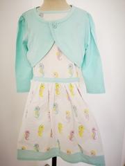 Seahorse Print Dress with Bolero Jacket