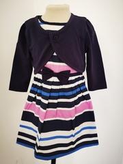 Striped Dress with Bolero Jacket M14143