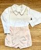 Smocked Shorts Set - Cream 6310
