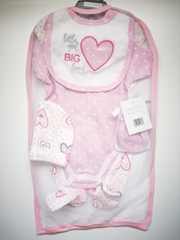 "5pcs Mesh Hanging Gift set  ""Big Heart"" 1033"