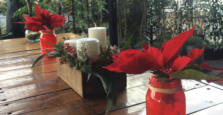 Decoración Navideña Para Oficina Y Hogar Macadamia Flores