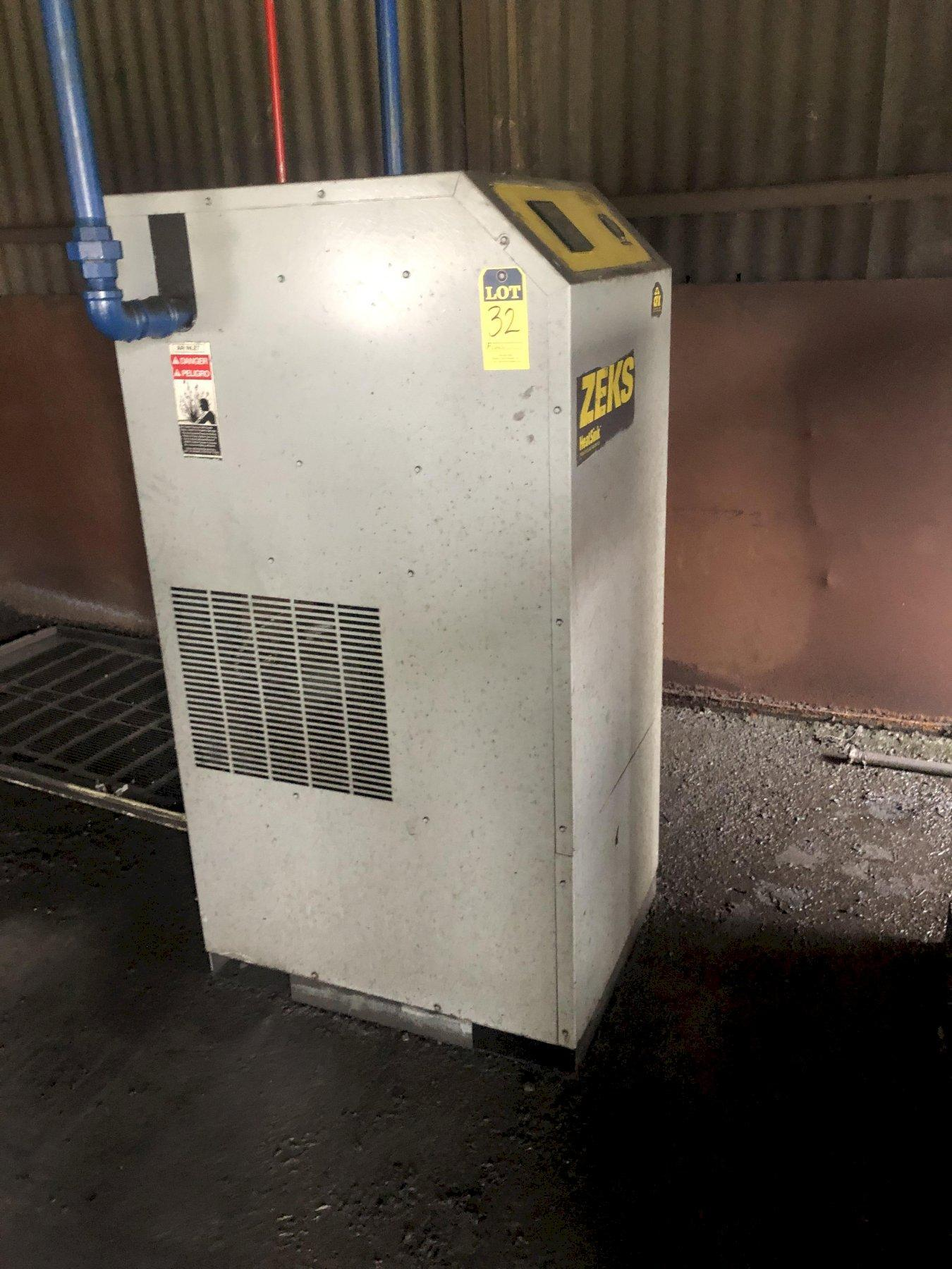 ZEKS MODEL CFX 250GSGA400 REFRIGERATED AIR DRYER S/N 255430N