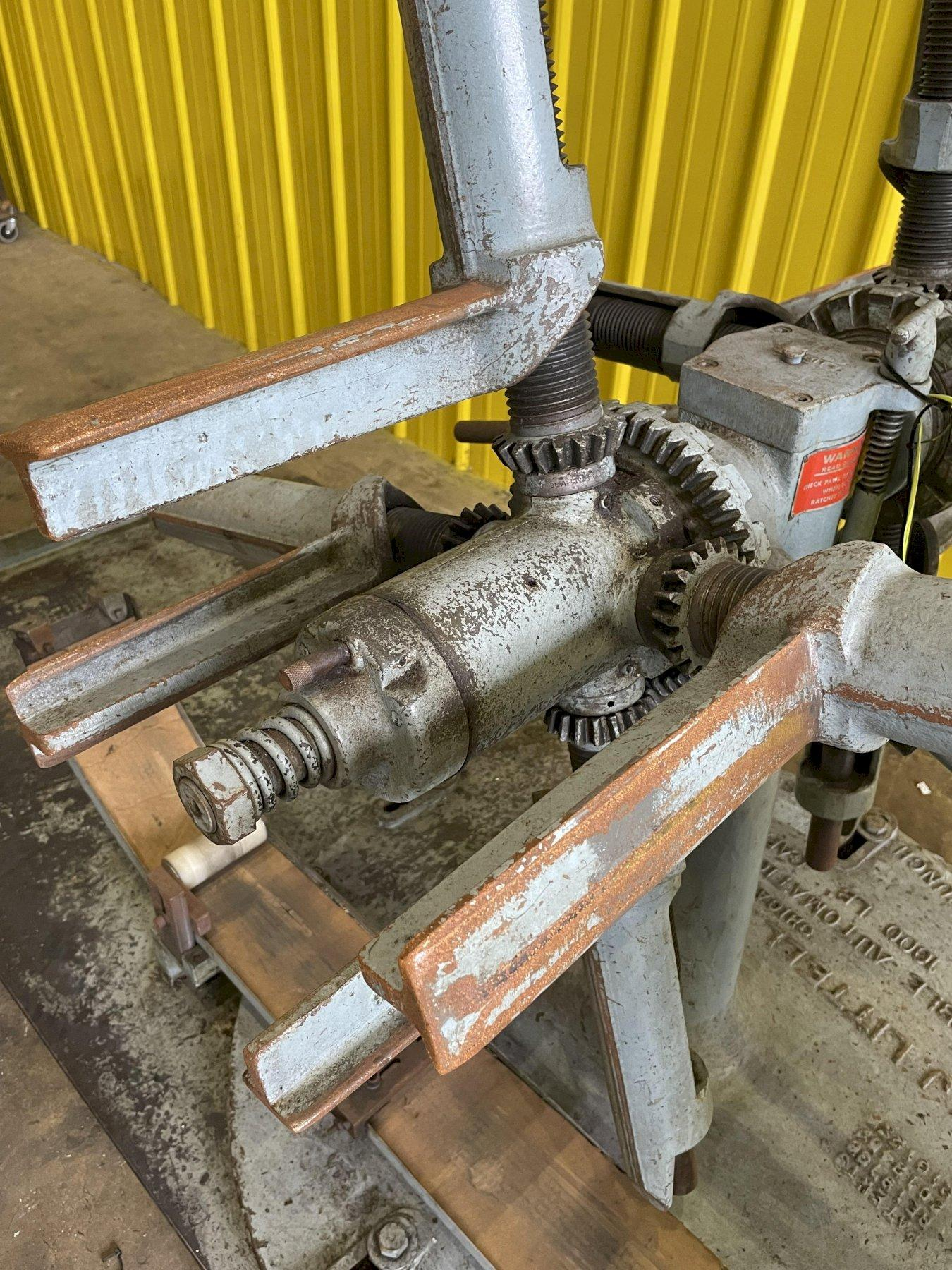 """1000 LB x 10"""" LITTELL MODEL #10 DOUBLE END PULL OFF COIL REEL UNCOILER: STOCK #15444"""