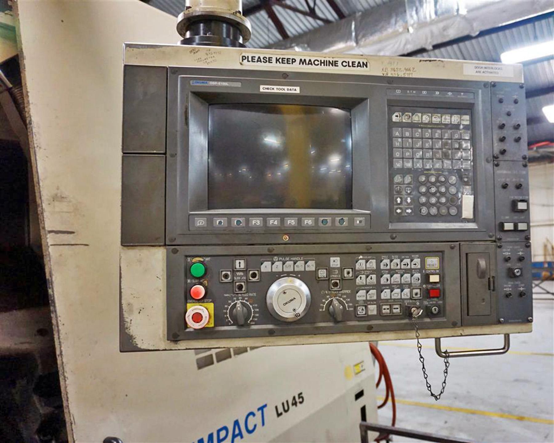 USED, OKUMA IMPACT LU45 SSB-2000 4 AXIS CNC LATHE