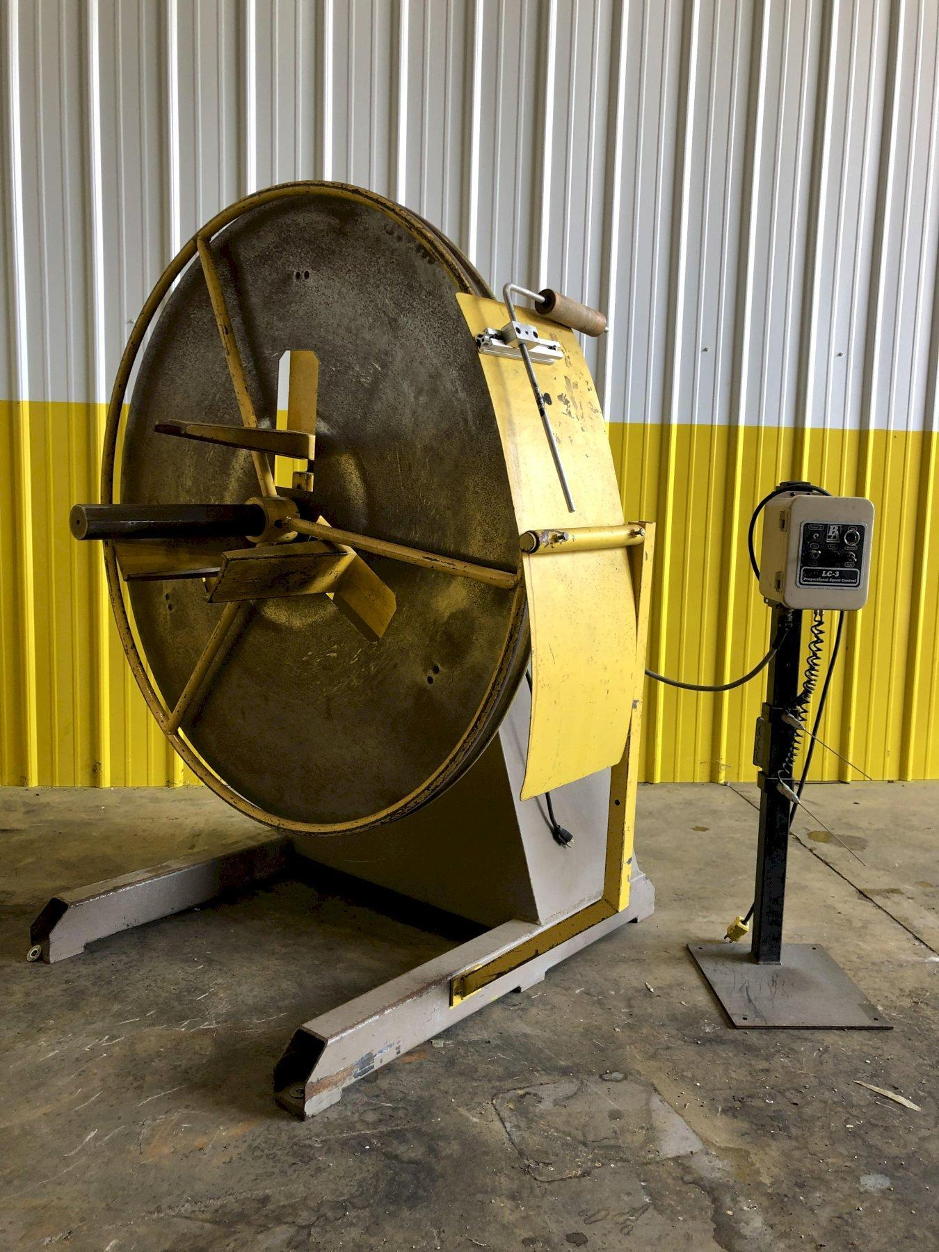 1200 LB PA INDUSTRIES MODEL #SRA-120LC-3 COIL REEL UNCOILER : STOCK #15447