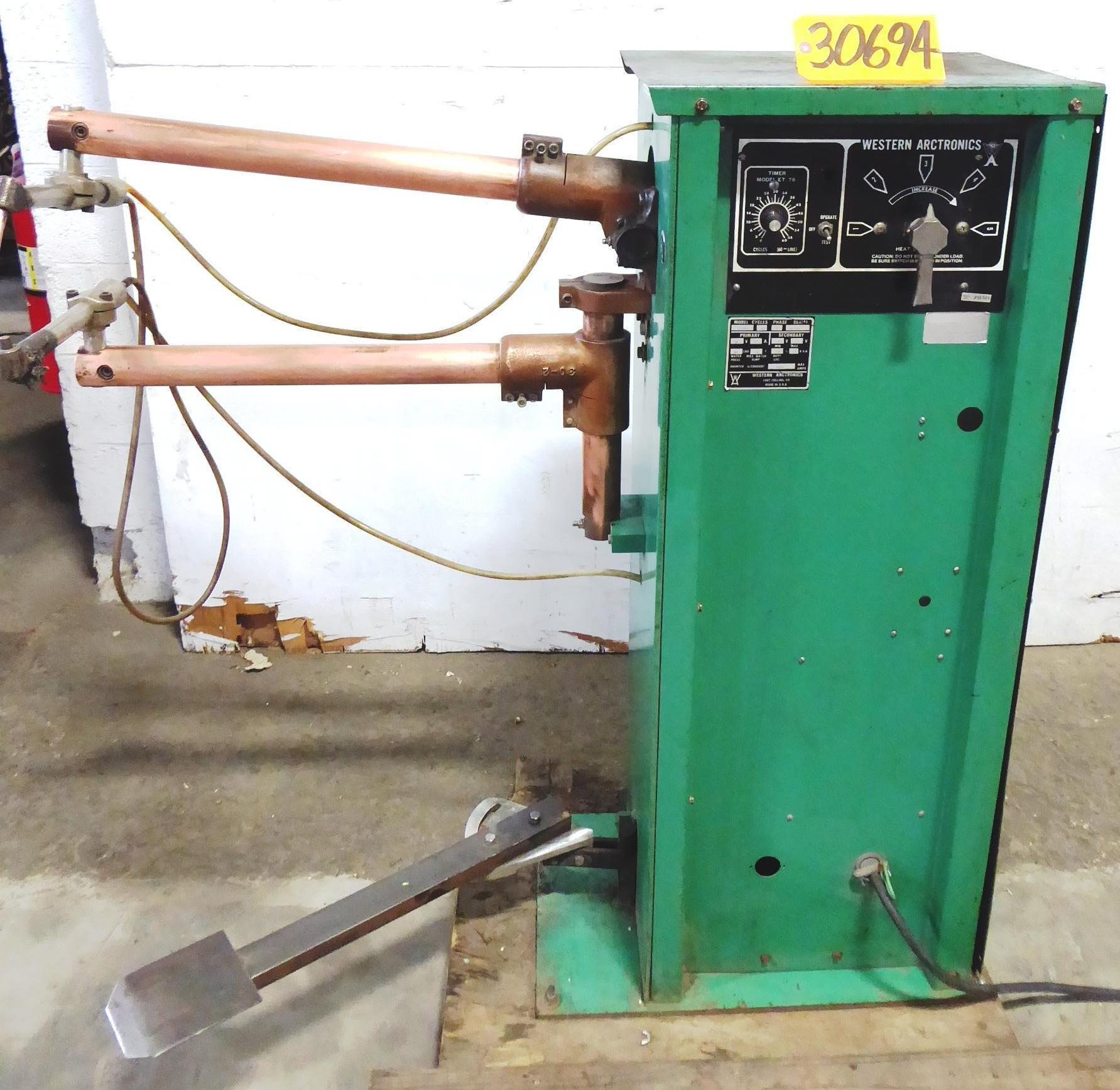 15 KVA Western Arctronics, Rocker Arm, 24″ Throat, 1 Phase