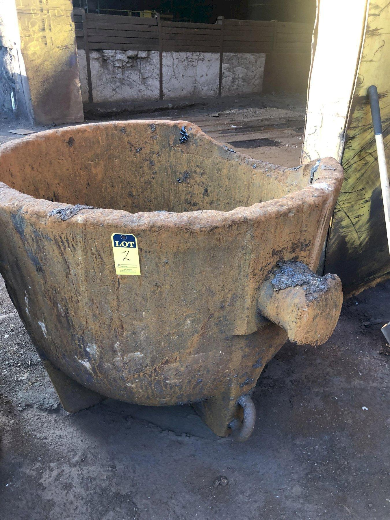 "3- available Slag pots 48"" diameter x 48"" deep, 3"""