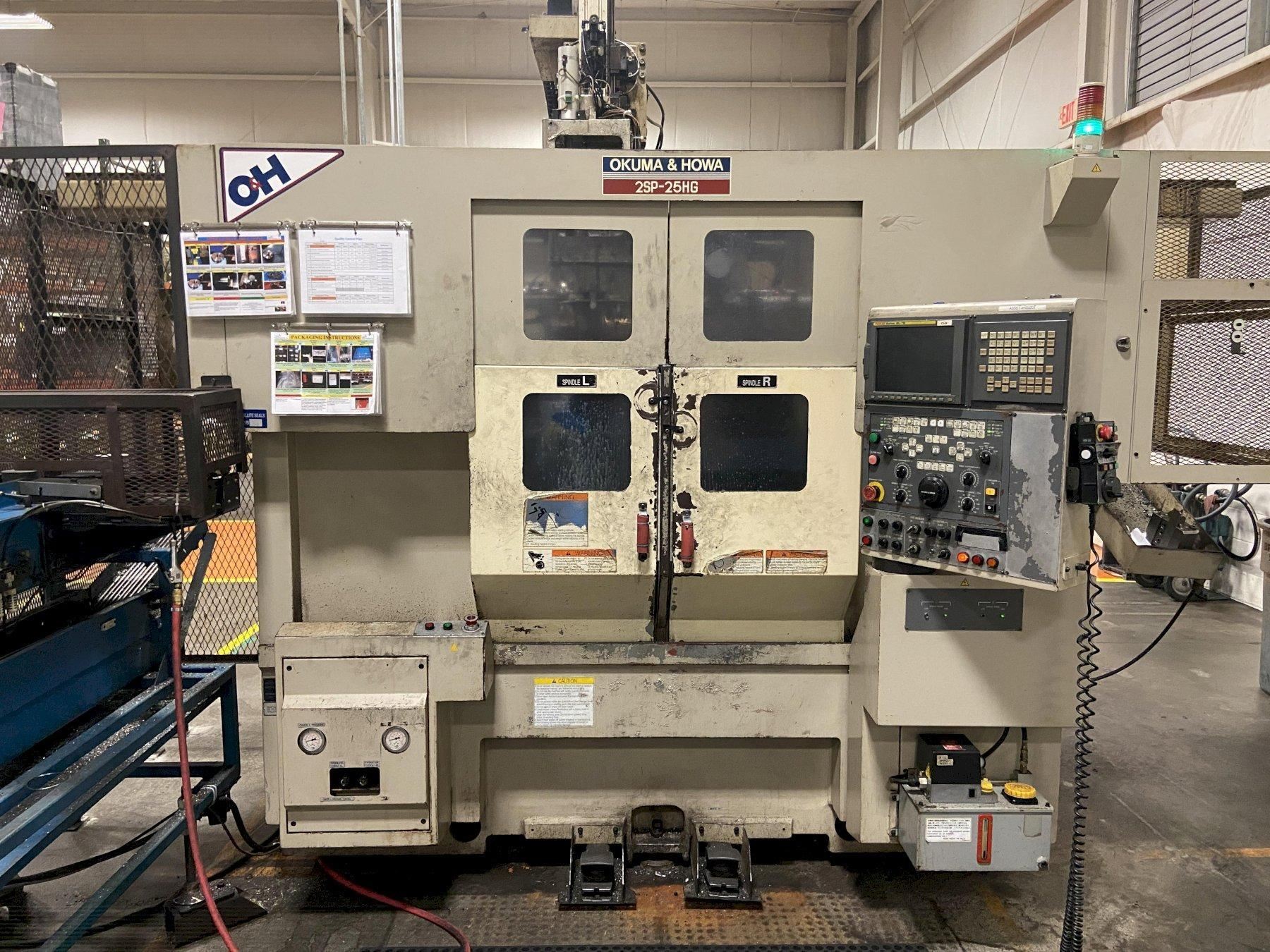 Okuma & Howa ACT 2SP-25HG Twin Spindle CNC Lathe with Gantry loader