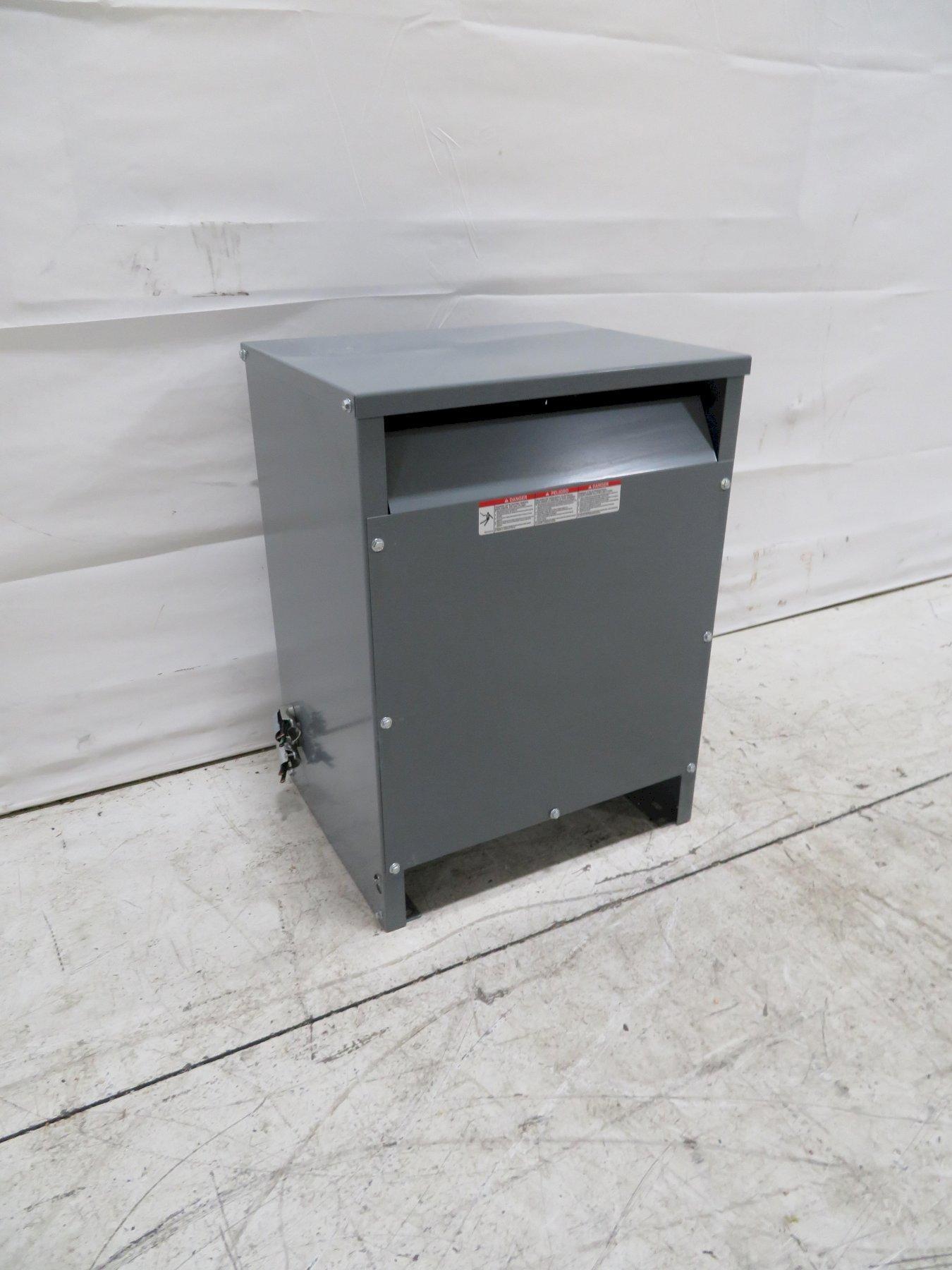 Square D Used EE15T3JFCU 3-Phase Transformer, 15KVA, 480V, 208,V 120V