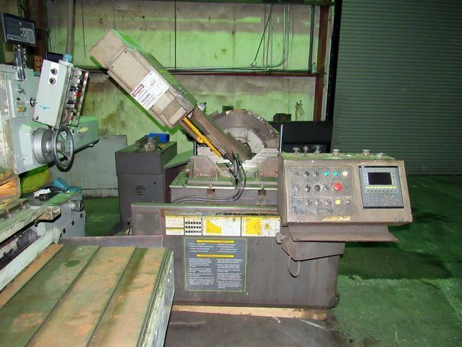 "18"" x 20"" HYD-MECH V18APC Automatic Vertical Miter Cutting Band Saw, PC Control, 2005"