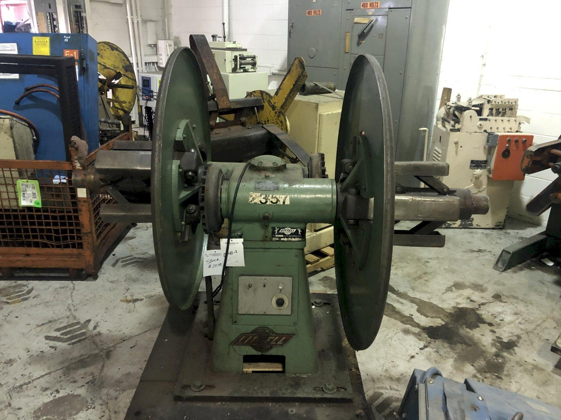"""4000 Lbs. Littell 40-12 Double End Reel, 12"""" Max. Coil width"""