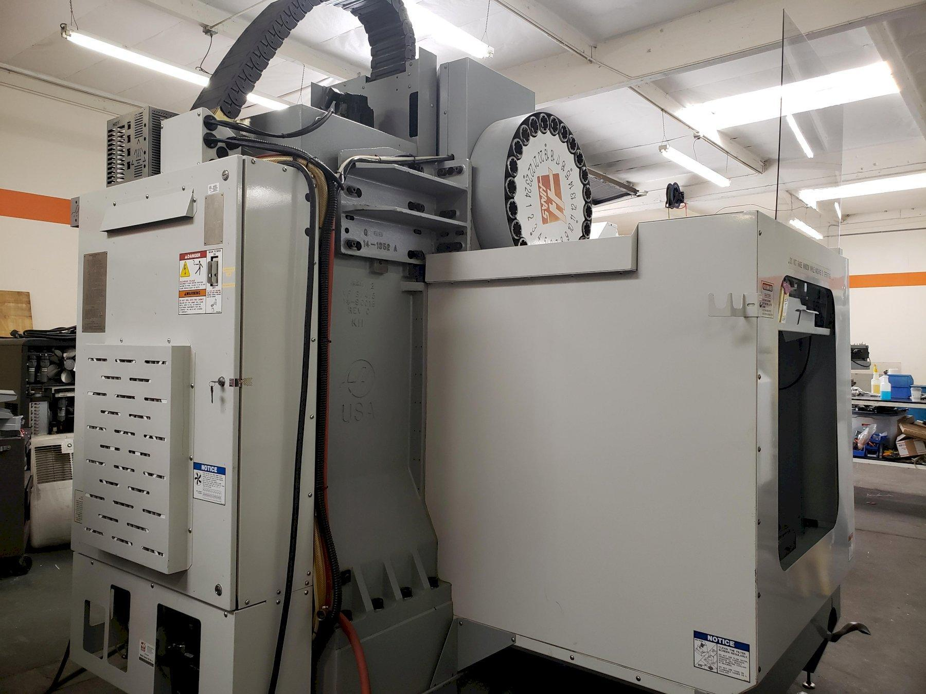 Haas VF-3SS VMC 2006, 4th Axis Ready, Programmable Coolant, High Speed Tool Changer, 12k RPM Spindle, Inline Direct Drive Spindle, Remote Jog Handle, Air Gun, and Chip Auger.