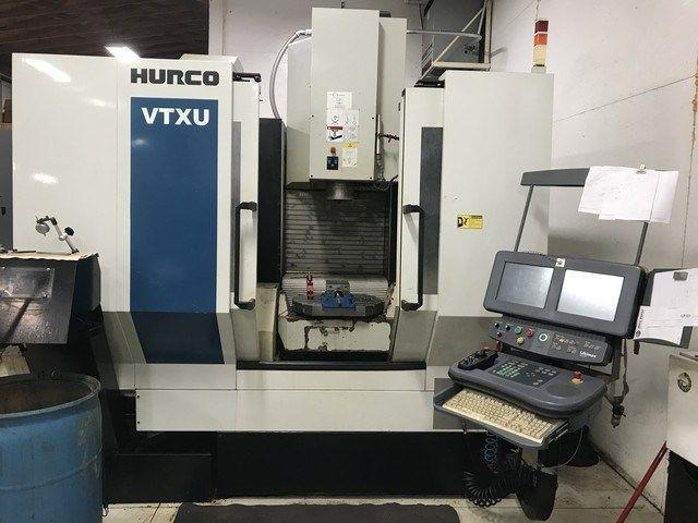 5-AXIS HURCO MODEL VTXU CNC VERTICAL MACHINING CENTER. STOCK # 0311321