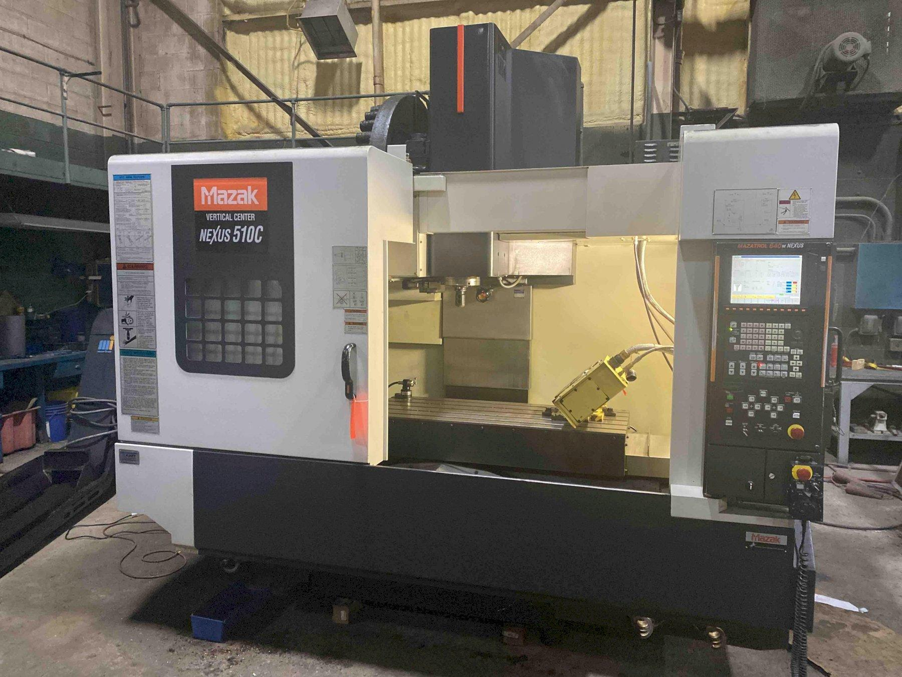 "Mazak VCN-Nexus 510C CNC Vertical Machining Center, 640M Control, 41""/20""/20"" Travels, 12K Spindle, CT40, 30 ATC, 30 HP, Nikken NST250MS 4th/5th Table, CTS, ATLM, Probe, 2005"