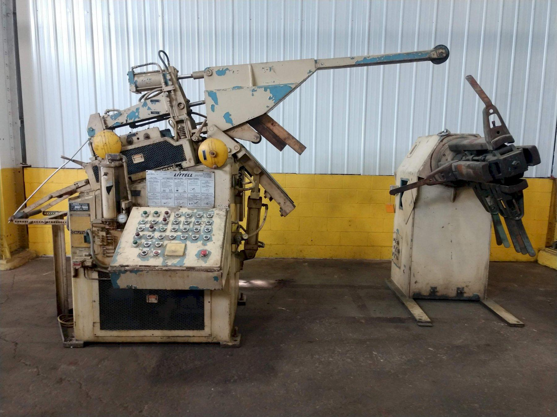 """10,000 LB X 12"""" X .156"""" LITTELL COIL FEED LINE WITH COIL REEL & STRAIGHTENER: STOCK 14941"""