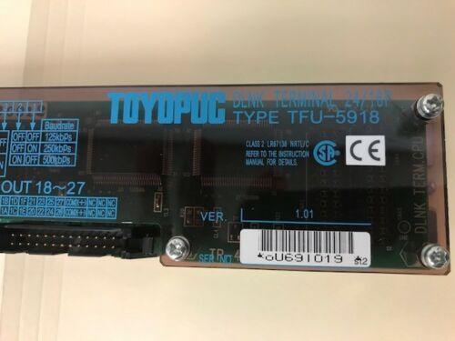 Toyopuc TFU-5918 DLNK Terminal 24/16P Jtekt Corp Type TFU-5918