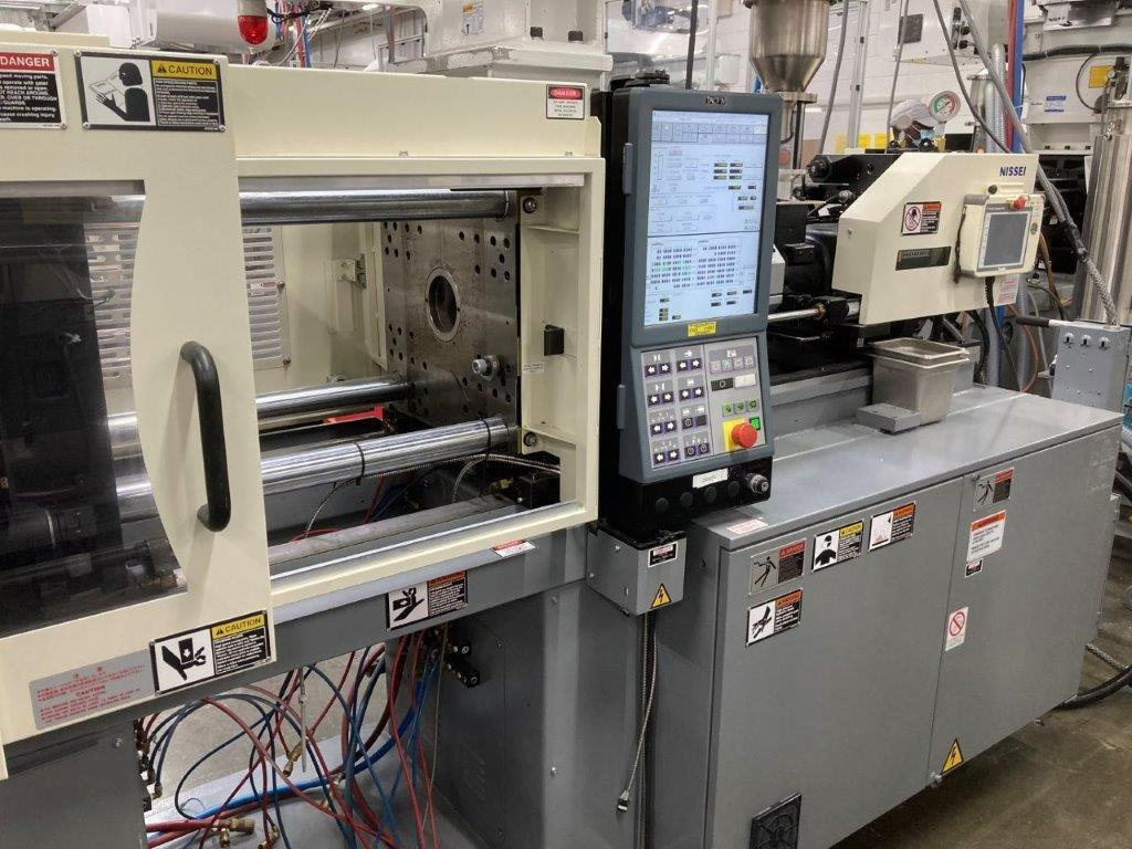 (3) Three Nissei Used PNX60III-5A Injection Molding Machine, 66 US ton, Yr. 2013, 1.2 oz.