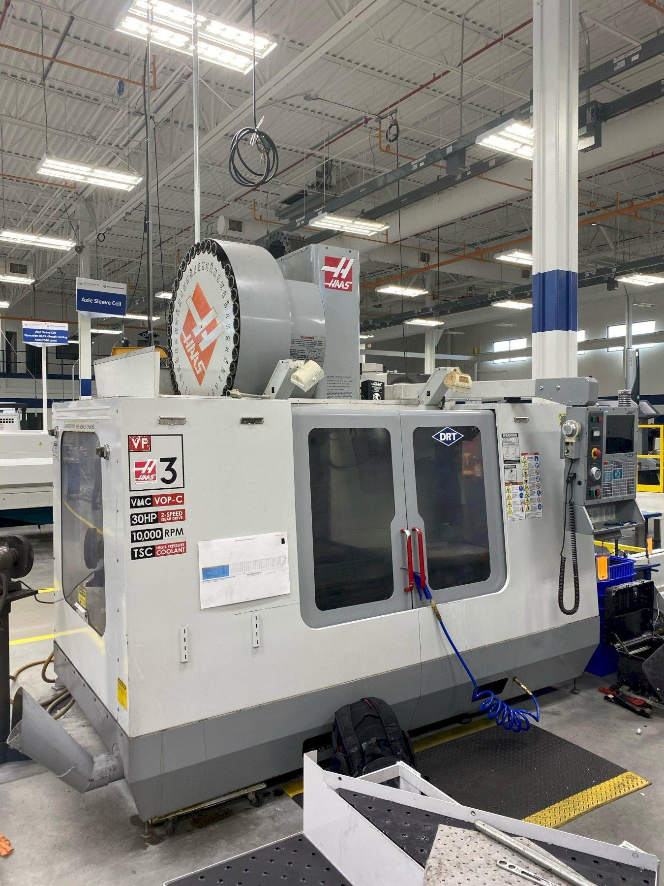 Haas VF-3B Vertical Machining Center w/ 30HP, 2-speed, Geared Head spindle and CTS