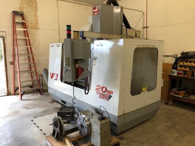 """HAAS2000 Haas VF-3 VMC 40""""x20""""x25"""", 24 ATC, 20 HP, Chip Auger, HRT 310 Rotary Table Available, 9K Hours"""